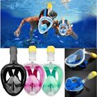 Breath Full Face Mask Surface Diving Snorkel Scuba for GoPro Swimming Tools S~XL