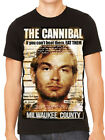 Anti Jeffrey Dahmer Parody Mugshot Serial Killer Horror Movie Mens T-Shirt Black