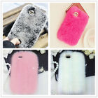 Winter Faux Rabbit Fur Phone Cover Muiltcolor Skin Case For iPhone 5 5S 6 6+
