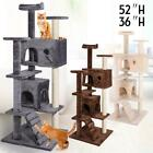 36 52 Cat Tree Tower Condo Play House Pet Scratch Post Kitten Furniture