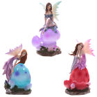 LED Woodland Fantasy Fairy Mushroom Lamp Night Light Battery Operated Figurine