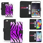black pu leather wallet case cover for many Mobile phones - design ref zx0044