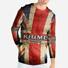 Triumph Motorcycles Biker Vintage Tshirt Fullprint Polyester New Men's Tshirt $38.49 USD on eBay