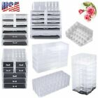 Acrylic Jewelry Makeup Cosmetic Organizer Case Display Holder Drawer Storage MA