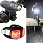 360° Rotation USB Rechargeable Cycling Front Light Bicycle Headlight +Tail Lamp