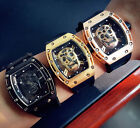 Skone Silicone Male Skull Design Watches Luxury Brand Sports Quartz Wrist Watch