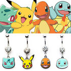 Pokemon Pikachu Navel Belly Button Ring Charmander Eevee - Officially Licensed