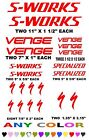 SPECIALIZED  VENGE S-WORKS  BICYCLE STICKERS DECALS  ANY COLOR  BIKE RACE