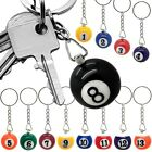1 Billard Ball Pool Snooker Sports Gift Key Fob Chain Ring Number Accessoire