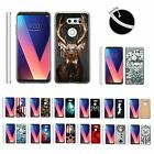 For LG V30 Slim Fitted Cover Clear Flexible TPU Case Bumper Skin