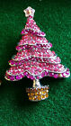 RHINESTONE CHRITMAS TREE BROOCHE
