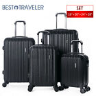 2/3/4/5Pcs Luggage Set Travel Bag Trolley Spinner Suitcase W/Lock Rolling Wheels