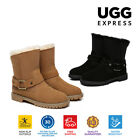 UGG Ladies Fashion Boots Sarah -  Sheepskin lining, Suede Upper, Short Stylish,