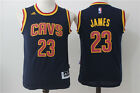 LeBron James Cleveland Cavaliers Cavs #23 Sewn Throwback Jersey Blue