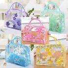 Transparent PVC Clear Waterproof Cosmetic Wash Toiletry Bags Organizer Makeup