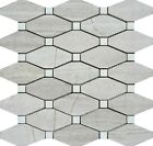 Wooden White Random Elongated Octagon Marble Polished Mosaic ($15.00 Per Sheet)