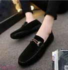 New Arrive Men Slip On Loafers Faux Suede Casual Shoes Driving Moccasins Slip On
