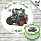 FENDIT TRACTOR EDIBLE BIRTHDAY CAKE TOPPER DECORATION PERSONALISED