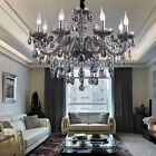 Genuine K9 Crystal Chandelier SMOKY 2,6,8,10,8+4,10+5,12+6 Arms Light Candle