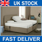 5FT 6FT King Size Dual Electric Adjustable Bed With Mattress & Headboard