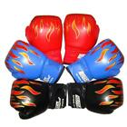 US Kids Children Flame Mesh Cuff Gloves For Sanda Boxing Training Professional