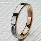 New Gift Men Women Tungsten Carbide Rose-gold plate C.Z. ring wedding band A73
