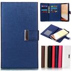 2in1 New Leather Removable Magnetic Flip Wallet Cards Case Cover For Cell Phones