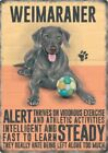 WEIMARANER DOG ANIMAL METAL SIGN PLAQUE PICTURE PRINT OTHER BREEDS LISTED 1298