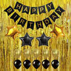 Happy Birthday Banner Foil Balloon Set Party Decoration Props Metallic Curtain