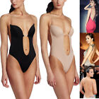 Backless Push Up Bra Plunge Thong Full Body Shaper Suit For Evening Dress S-XL