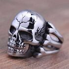 Men's Fashion Steampunk Stainless Steel Jewelry Skull Vintage Silver