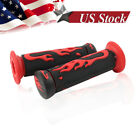 FOR HONDA CRF70 CRF80 CRF100 CRF150 CRF230 FLAME HAND GRIPS RED FLAMES GRIP BIKE