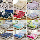 New Floral Color Fitted Sheet Twin Full Queen King Cotton Bed Sheet Cover 3 Size image