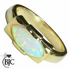 BJC® 9ct Yellow Gold Large 2.00ct Opal Solitaire size O dress Marquise ring R187