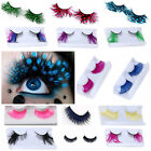 really long fake eyelashes - NEW 1 Pair Christmas Long Fake Eye Lashes Handmade Thick False Eyelashes Black