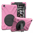 For Amazon Kindle Fire HD 8 7th Gen 2017 Tablet Case Stand Shockproof Dual Cover