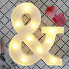LETTER LIGHTS LETTERS Home LIGHT Party STANDING WHITE Decor UP ALPHABET LED