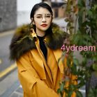 Korean Loose Fit Ladies BF Style Fur Collar Hooded Cotton Padded Outwear Coat