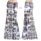 Plaid Checkered Floral Sublimation maxi long skirt S/M/L/XL/1XL/2XL/3XL