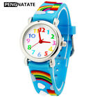 Fashion Kids Watch Girl Rainbow Small Bracelet Wristwatch Children Jelly Watches image