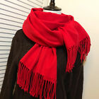 Women Oversize Cashmere Wool Scarf Wraps Pashmina Winter Warm Blanket Scarves