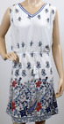 UK Ladies Womens Fashion White Paisley Print Day Dress Belted Sleeveless Dress
