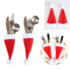 10pcs Xmas Cutlery Table Decor PartyPocket Bag Fork Spoon Christmas Caps Holder