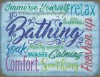BATHING RELAX IMMERSE YOURSELF SOAK WASH - BATHROOM METAL PLAQUE TIN SIGN 1140
