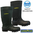MENS GOODYEAR SAFETY STEEL TOP CAP WATERPROOF MIDSOLE WORK WELLINGTONS BOOTS