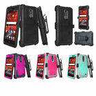 ZTE Blade Spark, Grand X4 Case [Built-in Screen Protector] Rugged Holster Cover