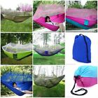 Portable Parachute Fabric Mosquito Net Hammock for IndoorOutdoor Single Person H