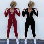 heater body suit review - US Women Sport Suit Bodysuit Long Sleeve Zipper Hooded Jumpsuits Pants Playsuit