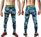 Men's Sport Yoga Compression Leggings Base Layer Long Short Pants Camo Trousers