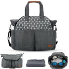 Water Resistant Baby Diaper Bag  Shoulder Bag Nappy Changing Bag Tote Bag